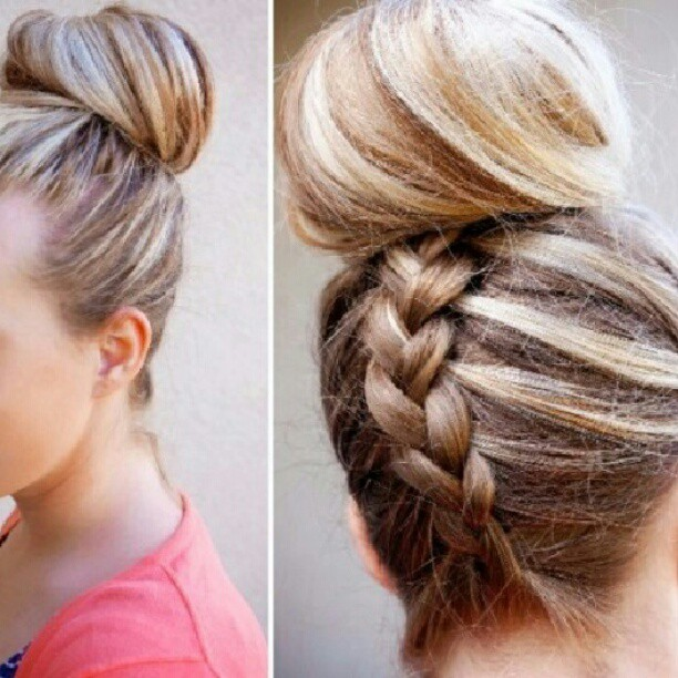 Braided Hairstyles Bun Fancy Braid Pictures Photos And Images