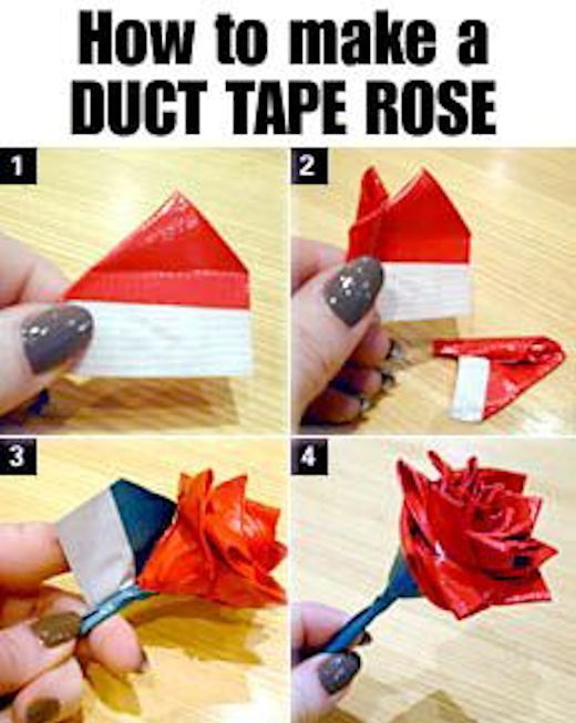 Diy duct tape rose pictures photos and images for for Cool things to do with roses