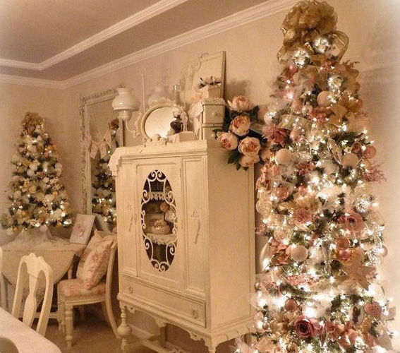 Pretty Pink Shabby Chic Christmas Pictures Photos And