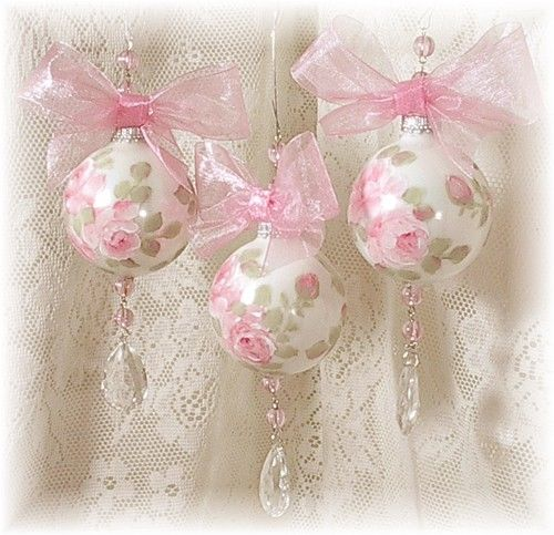 Pretty Pink Rose Christmas Ornaments Pictures Photos And