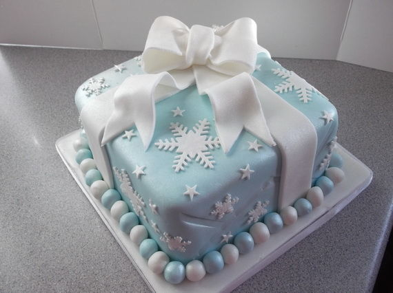 Snowflake Present Christmas Cake Pictures Photos And