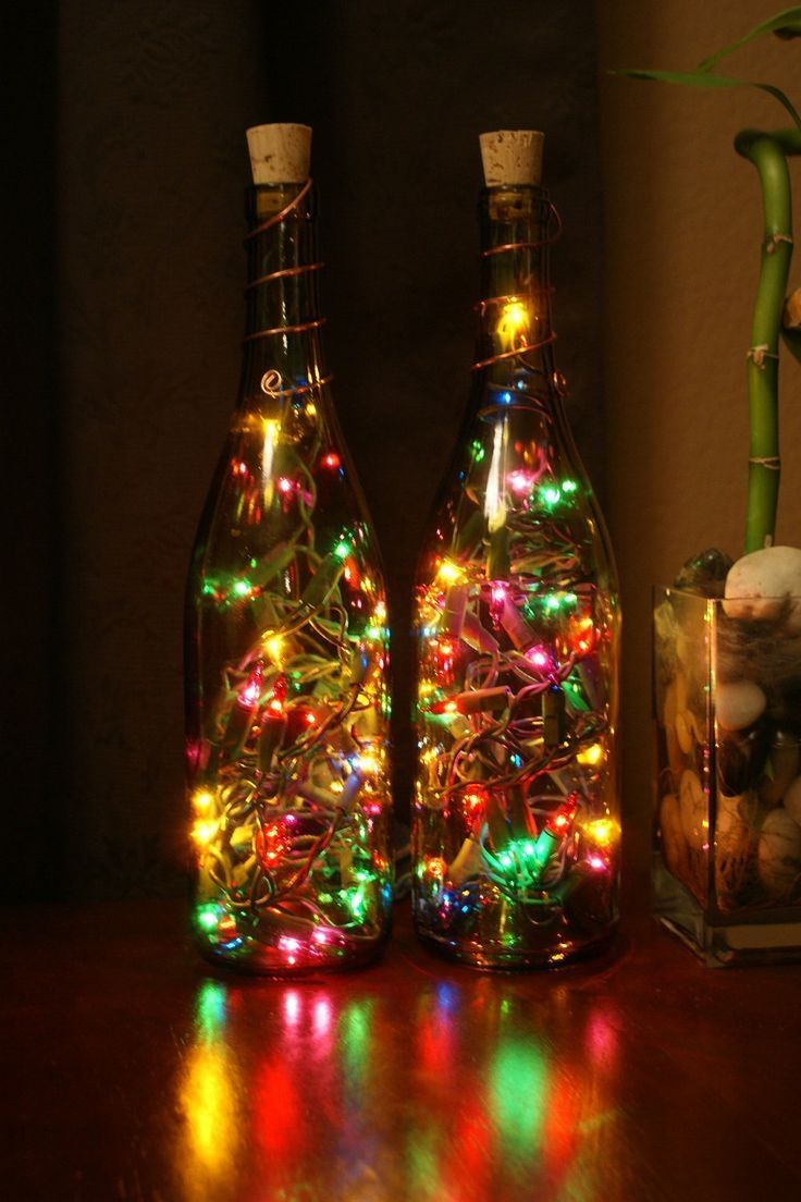 Christmas Wine Bottle Lights Pictures, Photos, and Images for ...