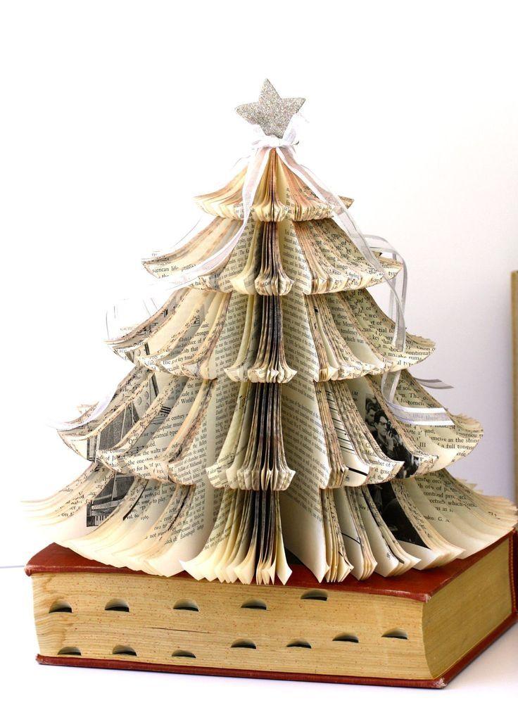 vintage book christmas tree - Christmas Tree Book