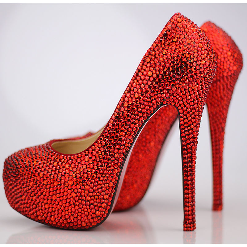 Glitter Red Stiletto Pumps Pictures Photos And Images