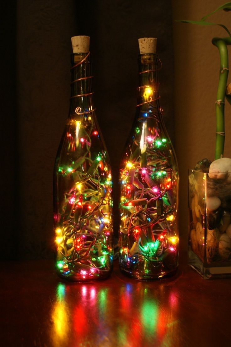 Christmas Home Decor With Bottles Pictures Photos And Images For