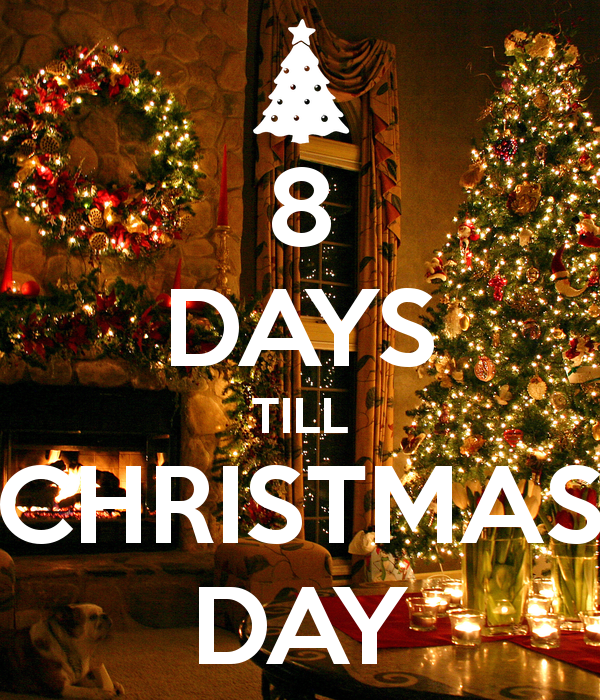 8 days till christmas - Countdown Till Christmas Decoration