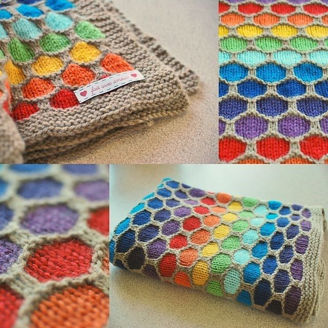 How To Make A Honeycomb Rainbow Blanket Pictures Photos And Images