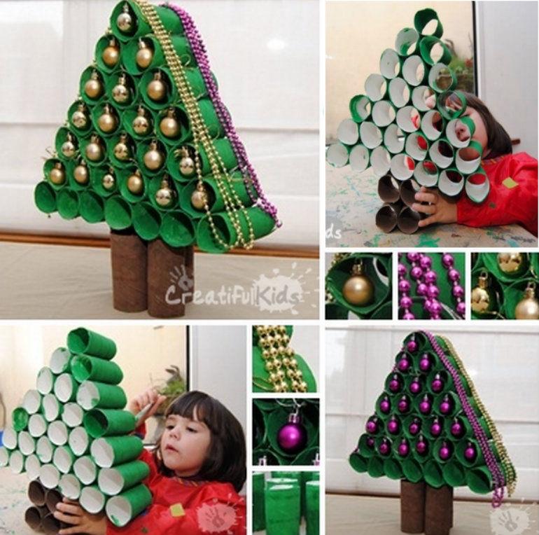 how to make a paper roll christmas tree - Make A Christmas Tree
