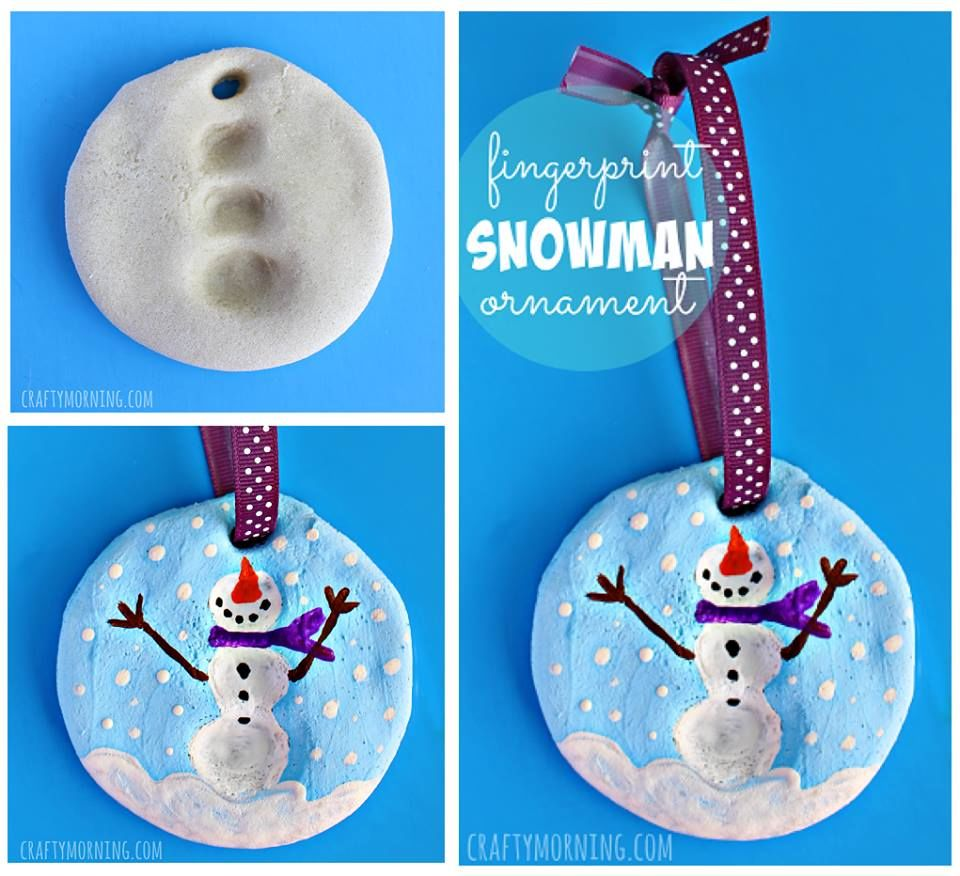 How to make fingerprint snowman ornaments pictures photos and images