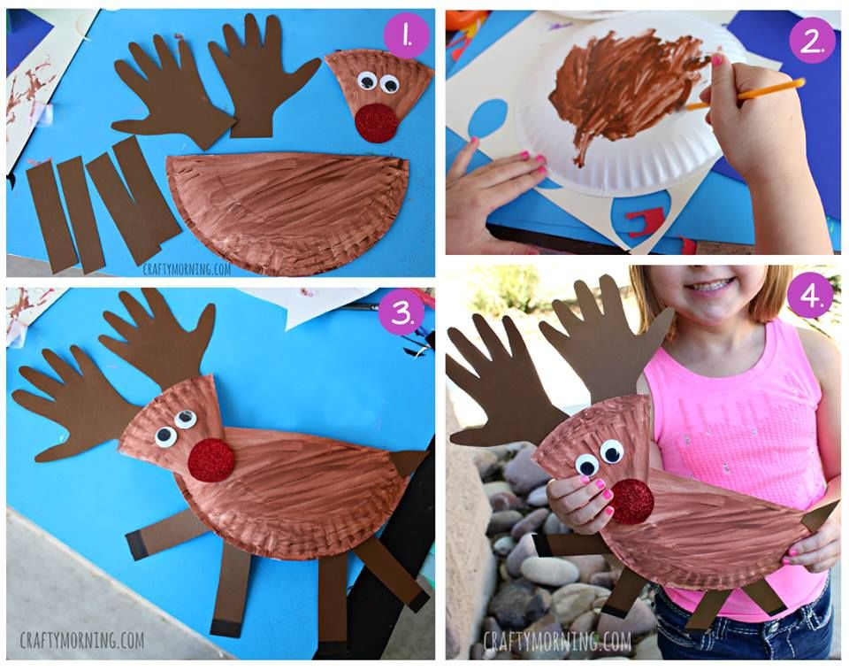 How To Make A Paper Plate Reindeer Pictures Photos And