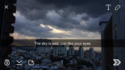 Eye In The Sky Quotes: The Sky Is Sad, Just Like Your Eyes Pictures, Photos, And
