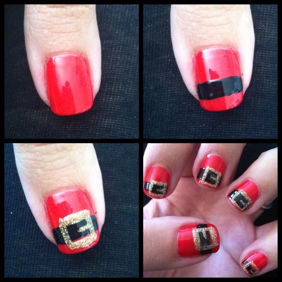 Diy Christmas Nail Art: Santa Belt Nails Pictures, Photos, And Images For Facebook
