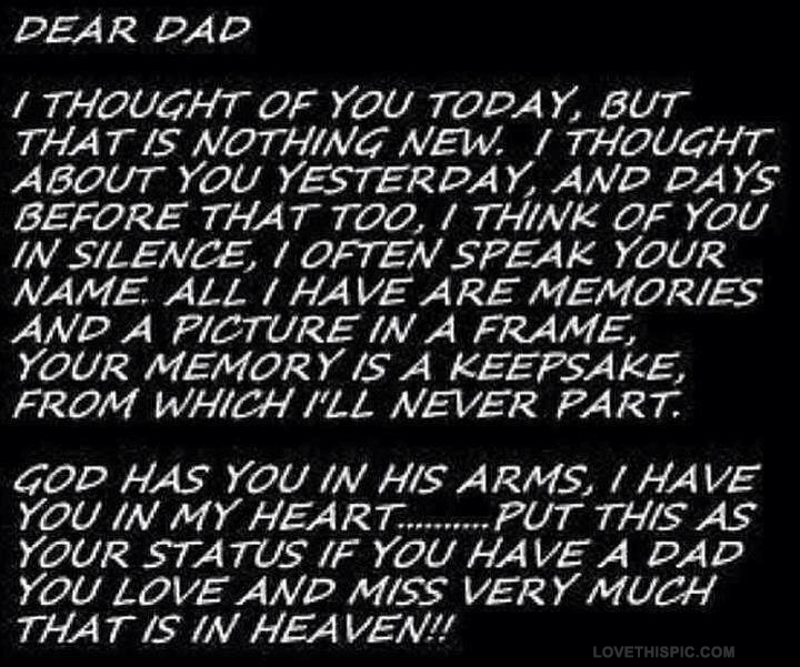 a letter to my dad in heaven dear pictures photos and images for 28771 | 14826 Dear Dad