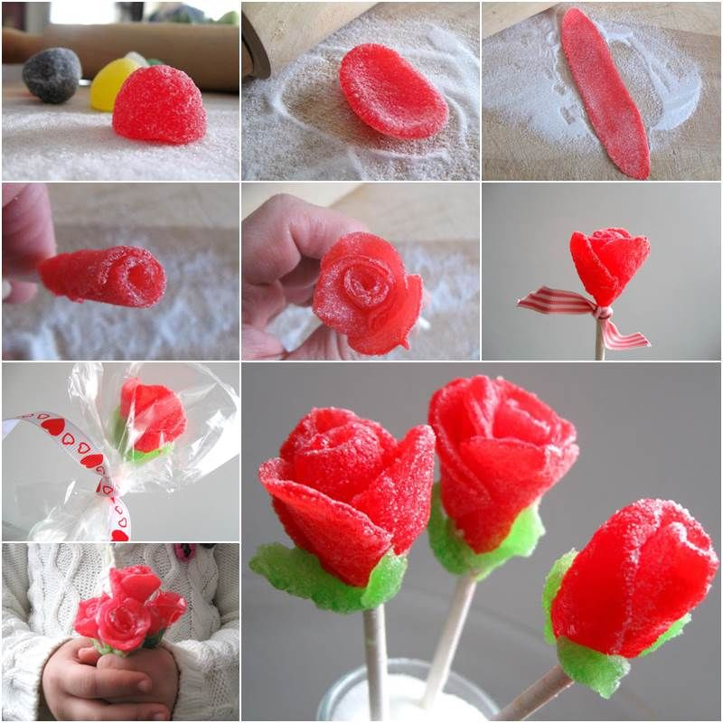 How To Make A Flower Bouquet With Gum Drops Pictures, Photos, and ...