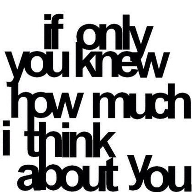 only think about you
