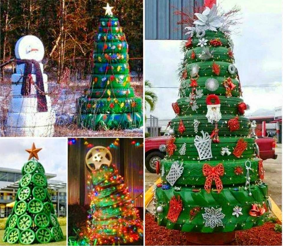How To Make Christmas Tree From Tires Pictures, Photos, and Images ...