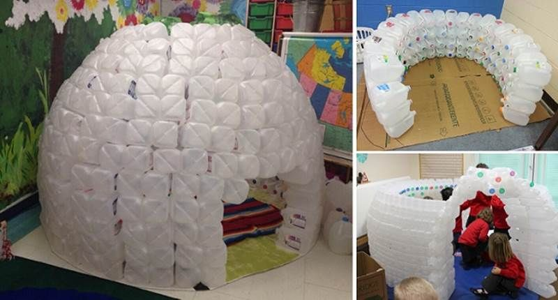 how to make an igloo out of milk jugs pictures photos