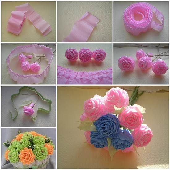 Diy Crepe Paper Flowers Pictures Photos And Images For Facebook