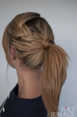 A Simple Hairstyle To School And To Work Pictures Photos And