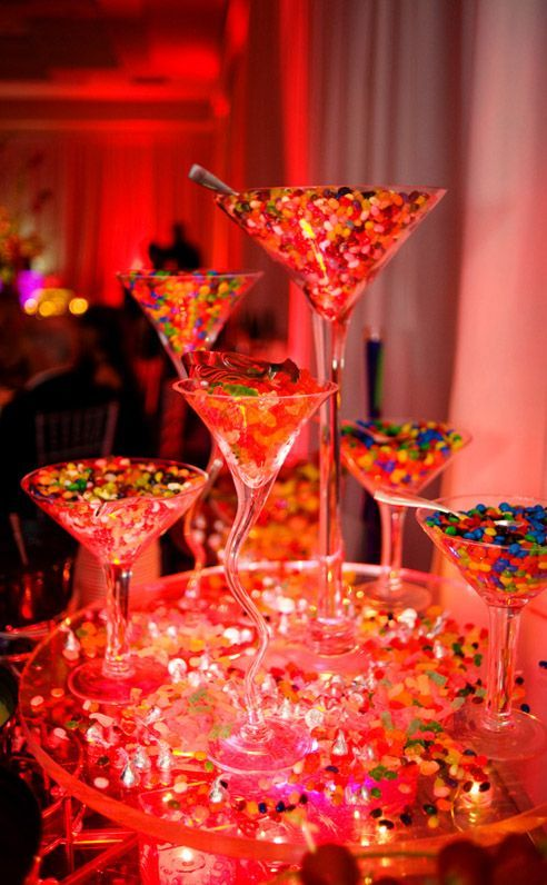 Candy filled martini glasses pictures photos and images