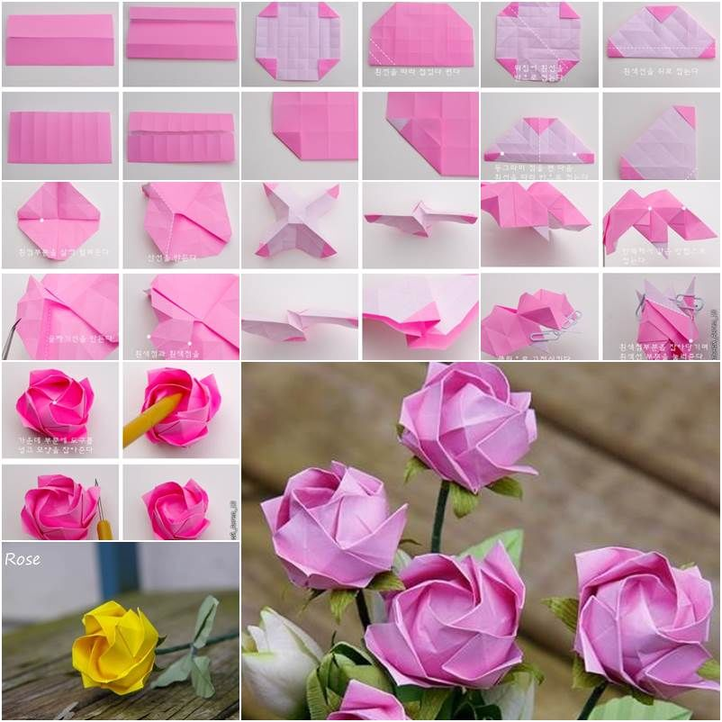 Origami Flowers Rose Related Keywords & Suggestions - Origami Flowers Rose Long Tail Keywords
