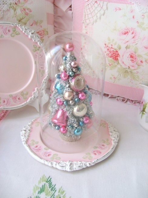 cute mini tree with pastel vintage ornaments pictures photos and