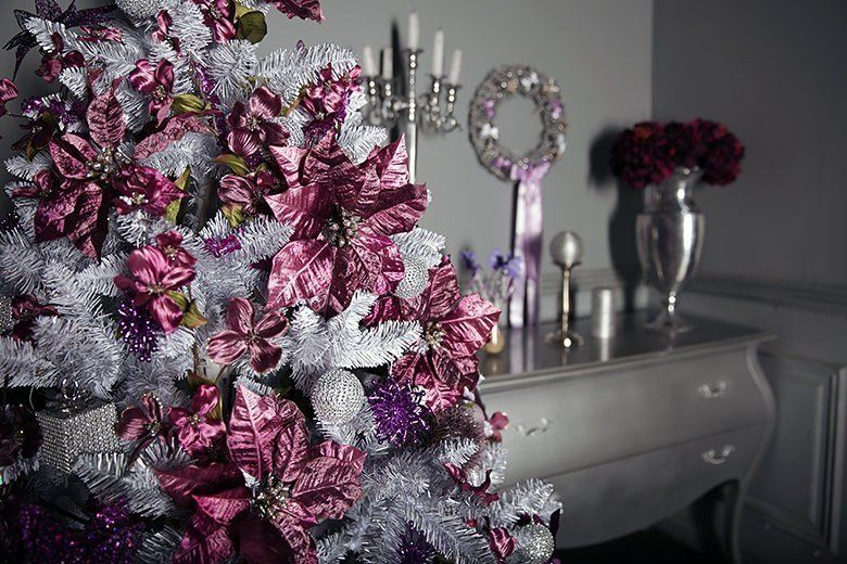 Pink Silver Christmas Tree