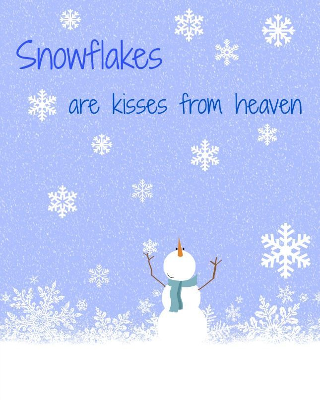 Superbe Snowflakes Are Kisses From Heaven