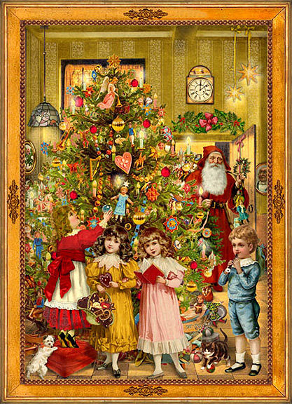 Vintage victorian christmas greeting card pictures photos and images