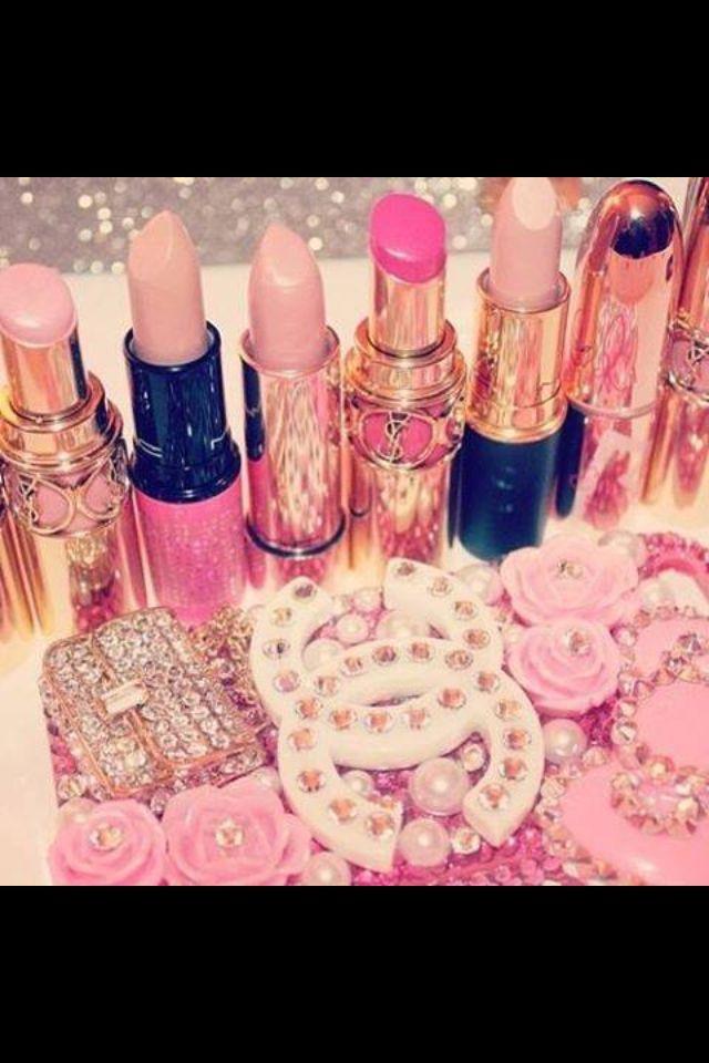 Pink Lipsticks And Accessories