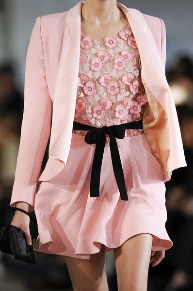 Good Ideas For Valentines Day: Pink Blazer & Skirt Outfit Pictures, Photos, And Images