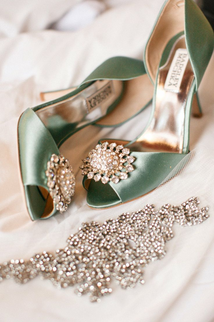 beautiful green satin wedding shoes pictures photos and images for