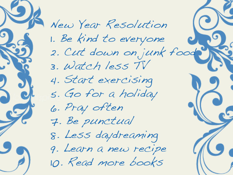 New Year\'s Resolution List Pictures, Photos, and Images for Facebook ...