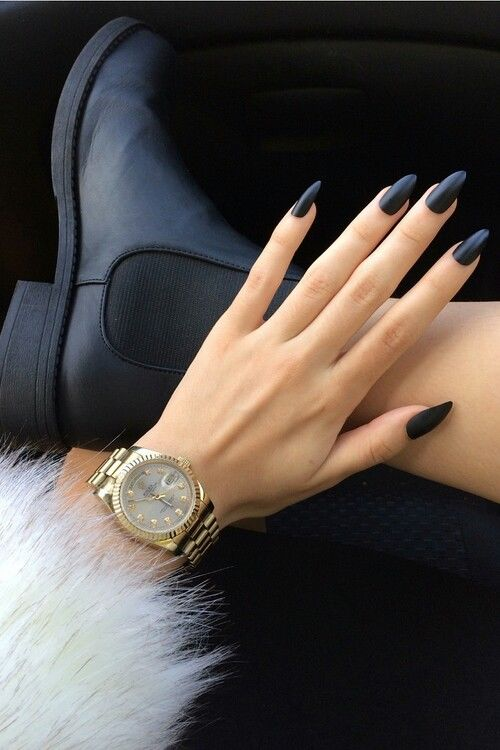 Black Matte Stiletto Nails Pictures, Photos, and Images for Facebook ...