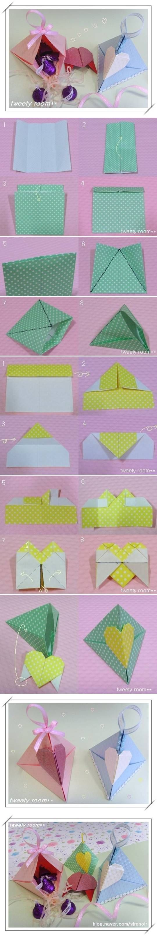 How to make a origami heart lock pictures photos and - How to make a paper heart box ...