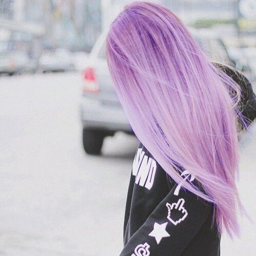 Purple pastel scene hair