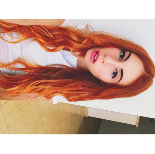 Honey Orange Curly Hai...