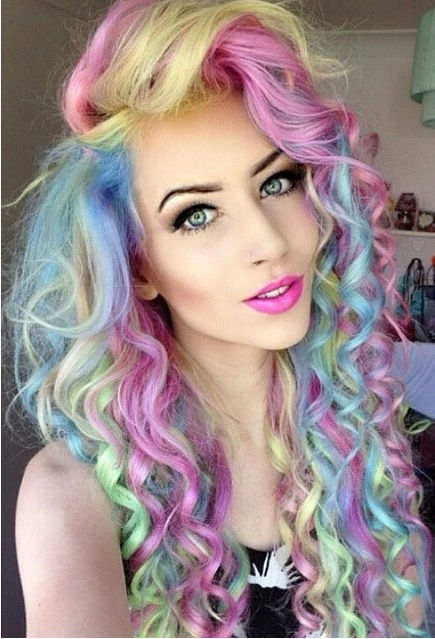 Pink dip dyed hair tumblr