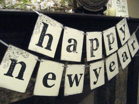 happy new year diy banner