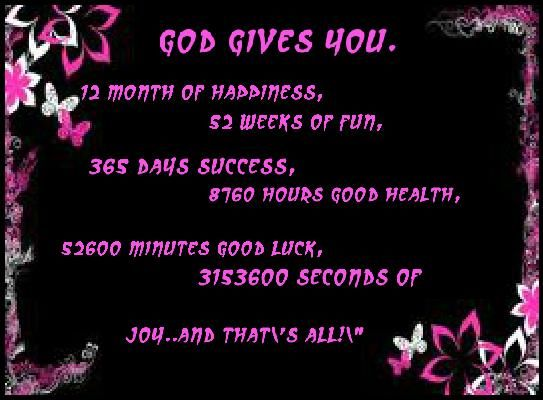 god gives you 12 months of happinesshappy new year