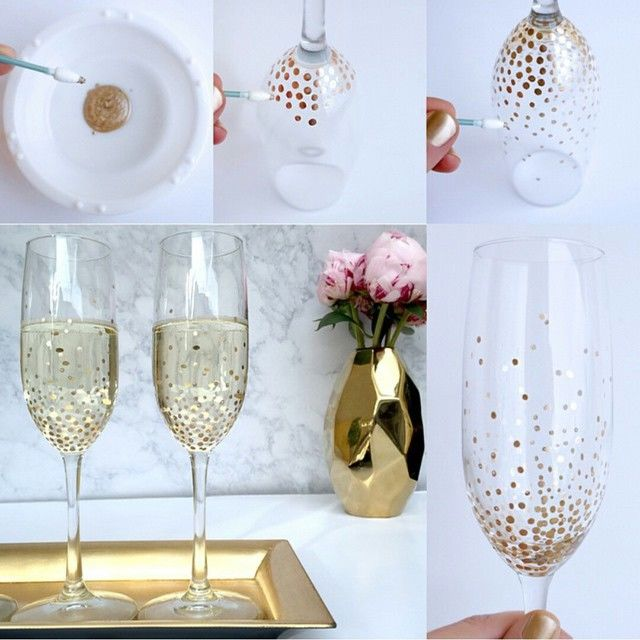 Preferred DIY Dotted Champagne Glasses Pictures, Photos, and Images for  YY38