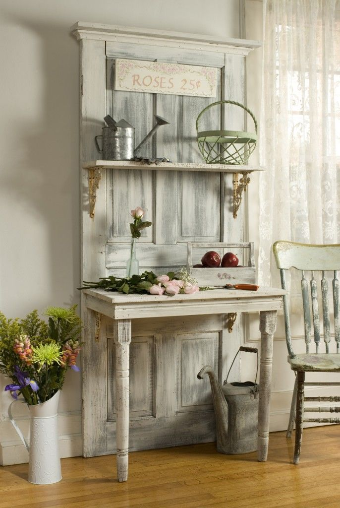 Cool Old Door Repurposed As A Desk And Shelf Pictures Photos Beutiful Home Inspiration Truamahrainfo
