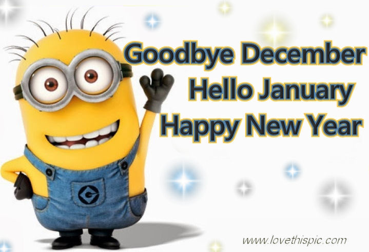 December Hello January Goodbye Picture Quotes