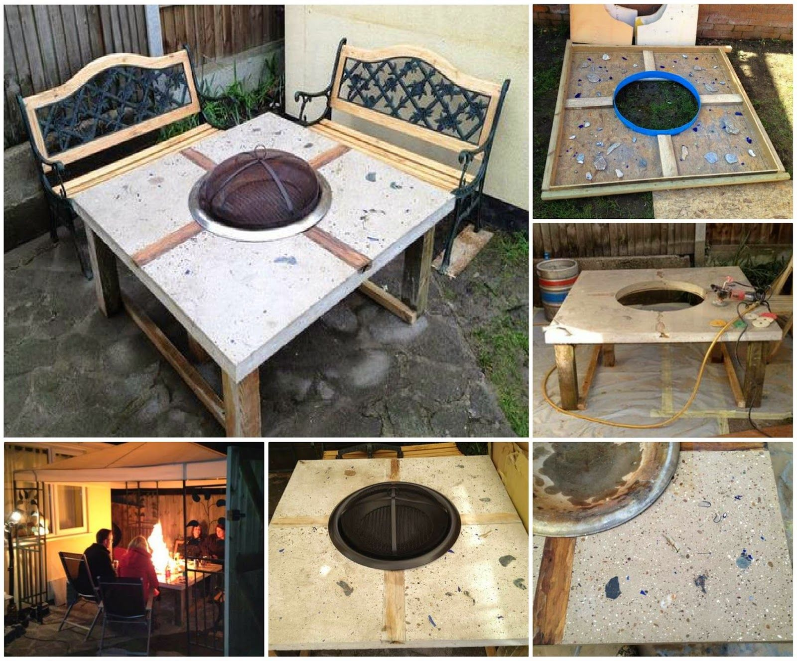 How To Make A Concrete Fire Pit Table