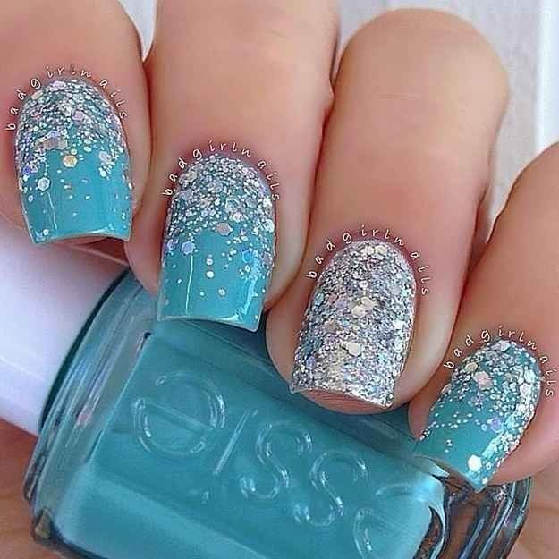 blue sparkle nails pictures photos and images for