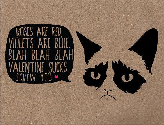 Grumpy Valentines Card