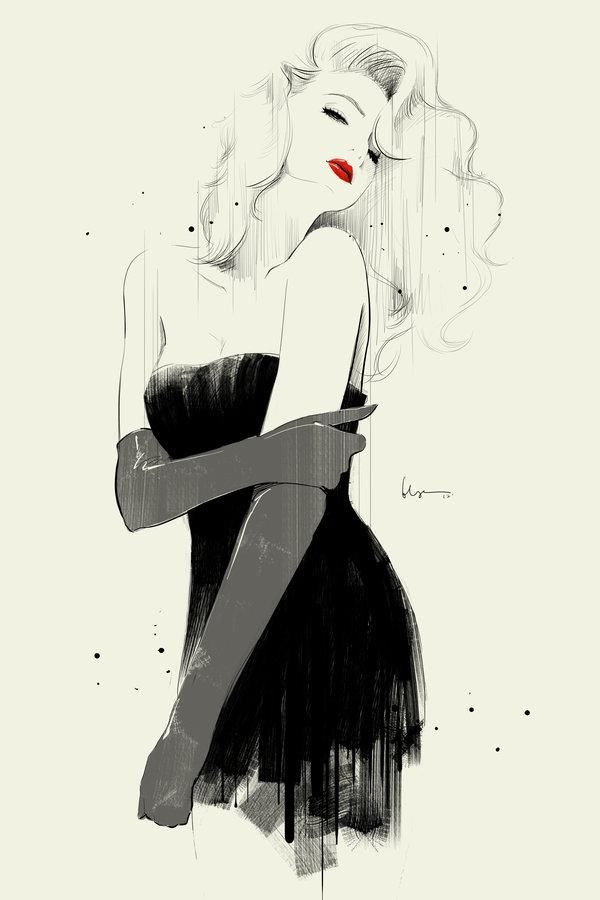 Black And White Fashion Illustration Pictures Photos And