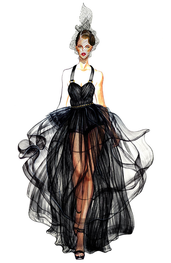 Glamorous Fashion Illustration Pictures  Photos  And