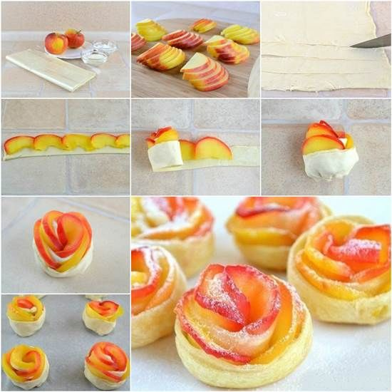 Diy apple rose pastry pictures photos and images for for Diy rose food