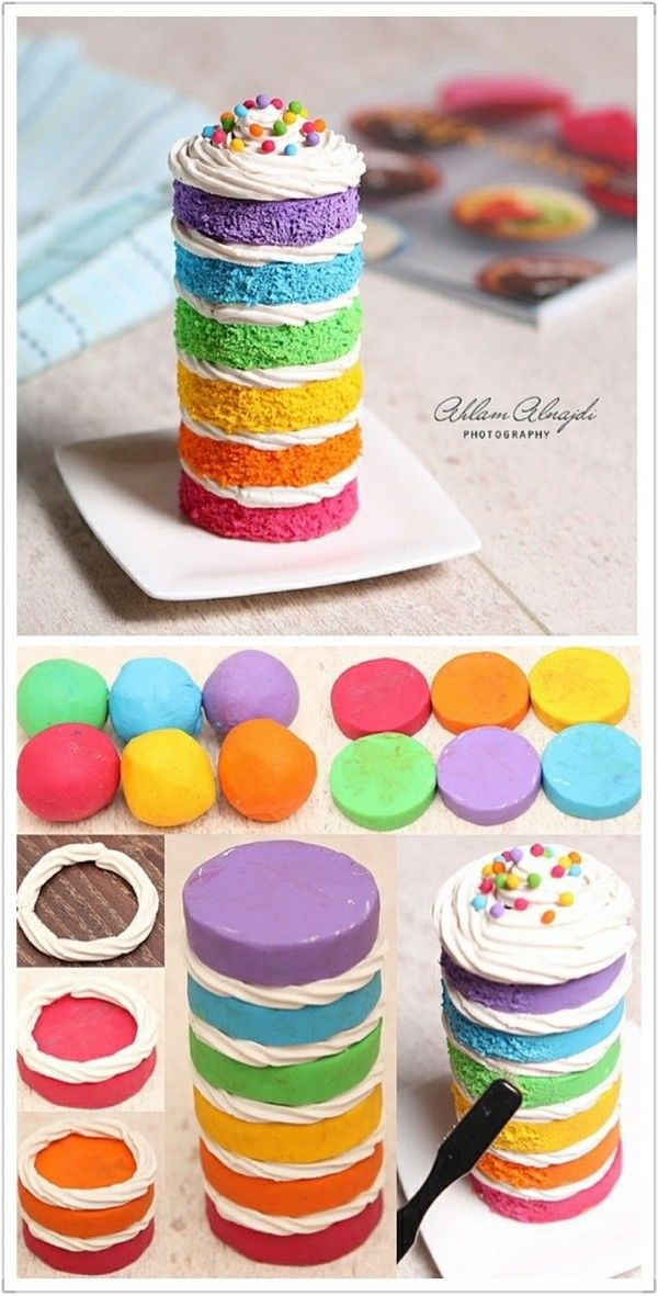 DIY Colorful Mini Cakes Pictures Photos and Images for Facebook